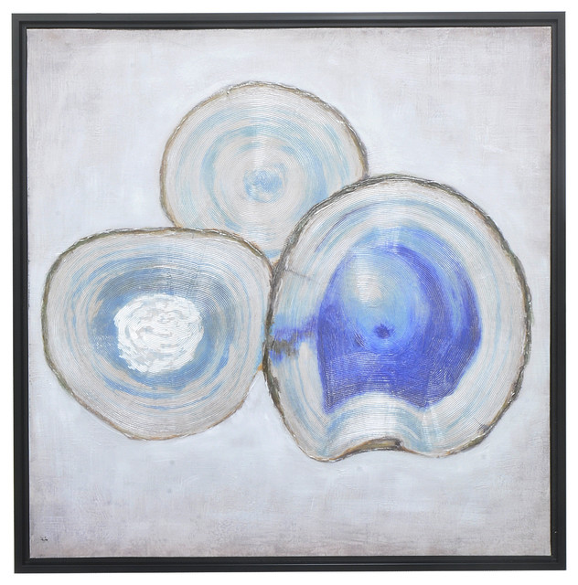 """""""abalone"""" Framed Oil Painting With Hand Embellished Detail."""