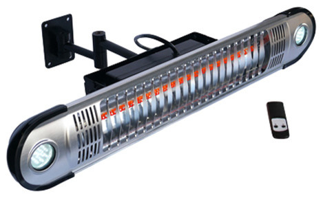 Energ+ Infrared Electric Outdoor Heater, Wall Mounted With LED Modern Patio  Heaters