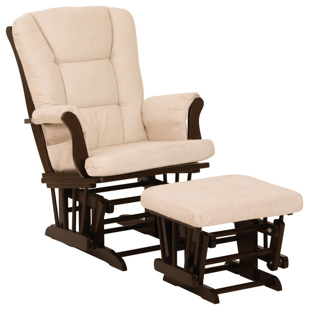 Storkcraft Tuscany Glider and Ottoman Set, Espresso and Beige by Stork Craft Manufacturing Inc.