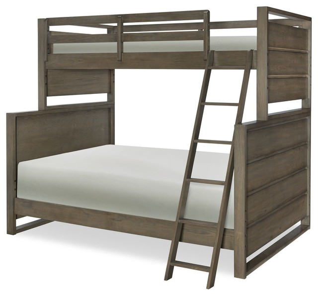 Fairbanks Twin Over Full Bunk Bed, Oak, Bed Only.