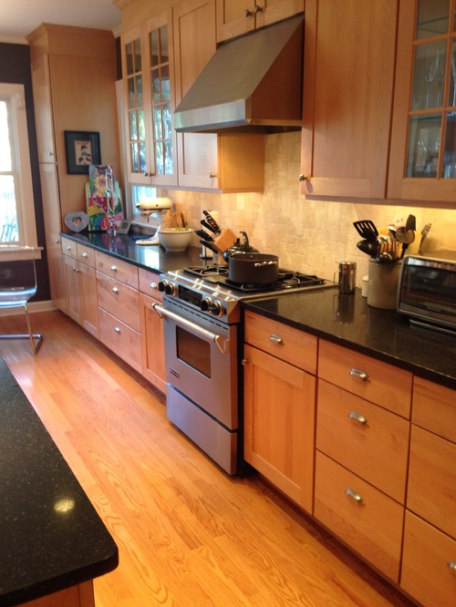 Painting kitchen cabinets? on Granite Countertops With Maple Cabinets  id=49033