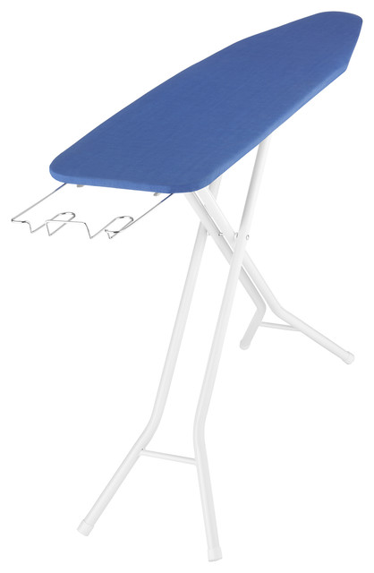 "Whitmor 61""x14.25""x35"" 4-Leg Ironing Board With Metal Mesh Top."