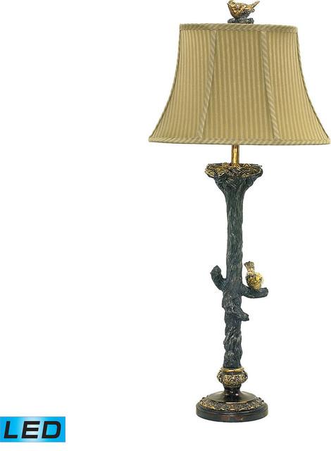 Bird On Branch Table Lamp