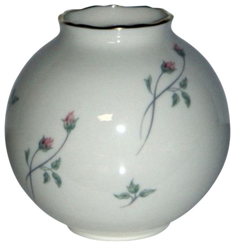 Lenox Rose Manor Pink Globe Vase Traditional Tabletop By