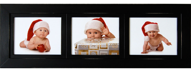 collage picture frame 8x10 wood frame with 3 landscape openings rustic picture frames