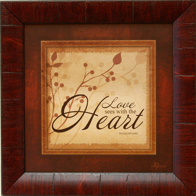 Rustic Wall Decor Love Sees With The Heart (Shakespeare) - Rustic ...