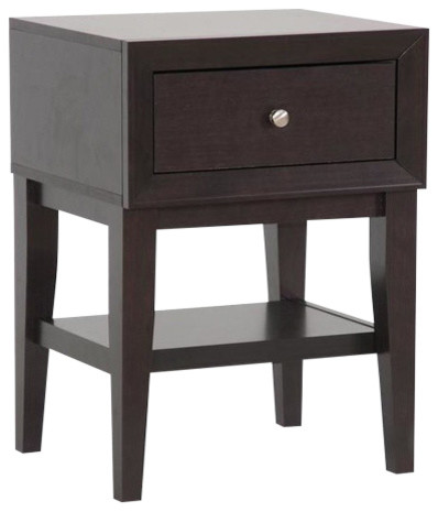 Baxton Studio Gaston Brown Modern Accent Table Nightstand View