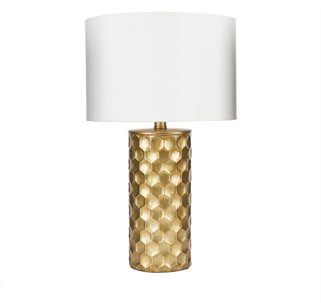 The Hive Gilded Table Lamp With Shade.
