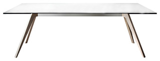 Pianca Delta Modern Dining Glass Extendable Table Dining Tables Houzz