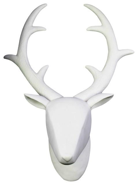 Porcelain Wall Mount Deer Head Contemporary Wall Sculptures