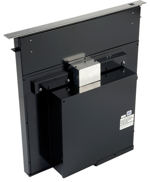 Amana Draft Down Cooktops ~ How does the downdraft blower fit behind a slide in range