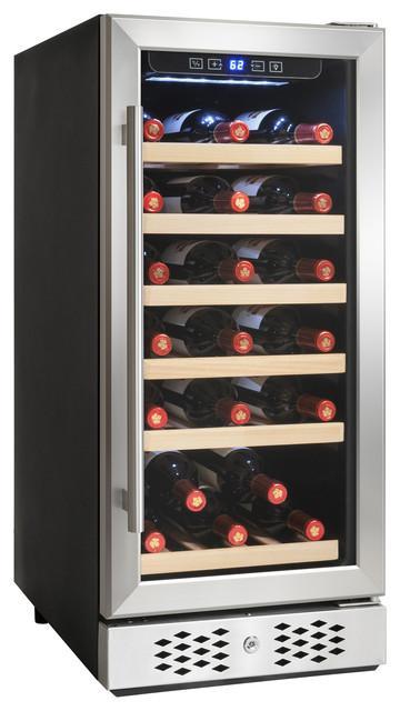 AKDY 30 Bottle Single Zone Built-in Compressor Electric Wine Cooler Refrigerator
