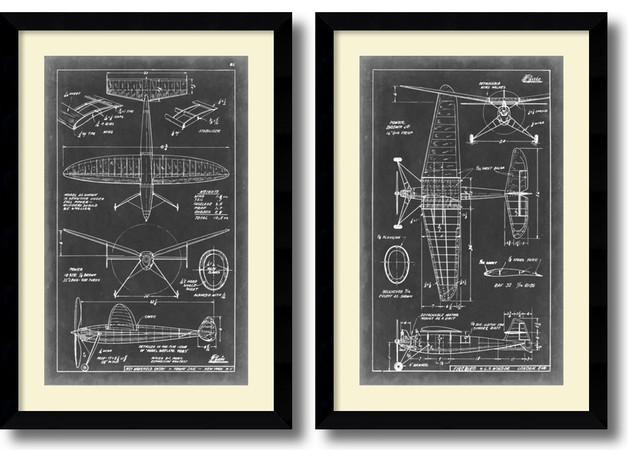 Amanti art vision studio aeronautic blueprint iii and iv vision studio aeronautic blueprint iii and iv framed print 26x37 malvernweather Gallery