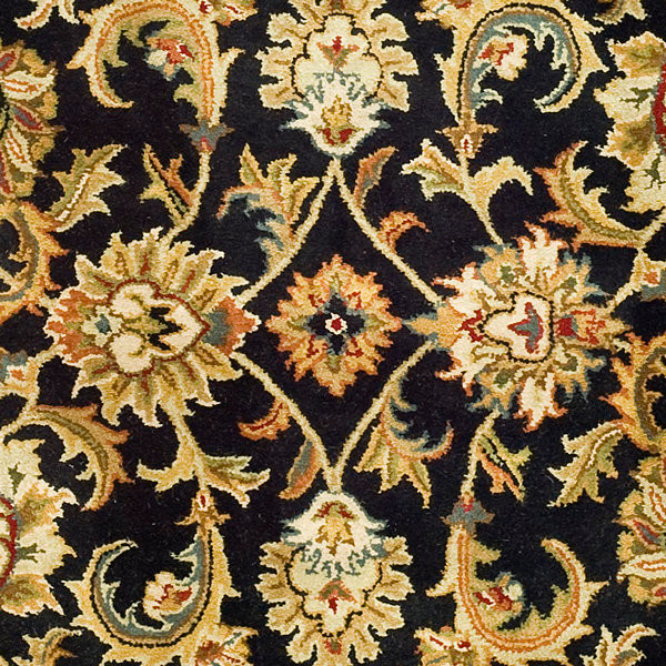 Black And Gold Hand Tufted Border Rug Traditional Area Rugs By