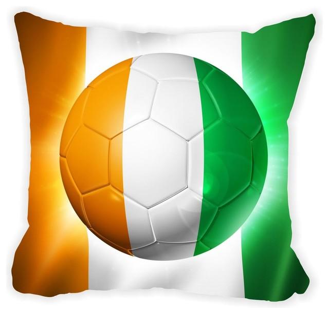 Ivory Coast Team Football Soccer Flag Microfiber Throw