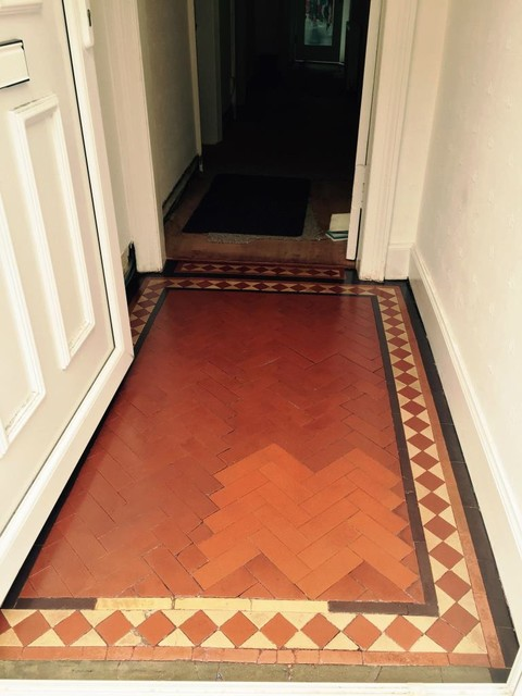 Removing Paint From A Victorian Tiled Hallway Floor In
