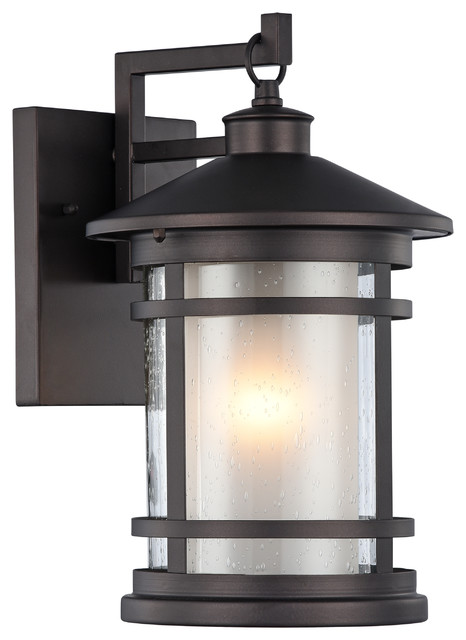 Mounting Height For Exterior Wall Sconces : ADESSO, Transitional 1 Light Black Outdoor Wall Sconce, 14