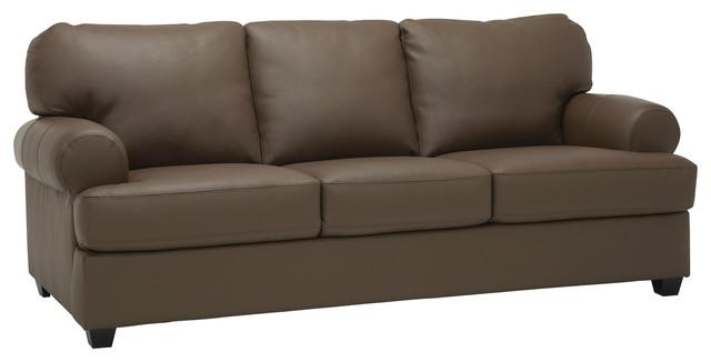 Marjorie Top Grain Leather Sofa.