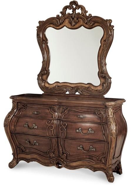 Aico Michael Amini Palais Royale Double Dresser & Mirror.