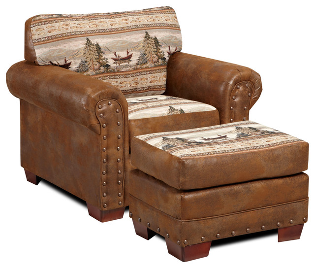 Alpine Lodge Chair Rustic Armchairs And Accent Chairs