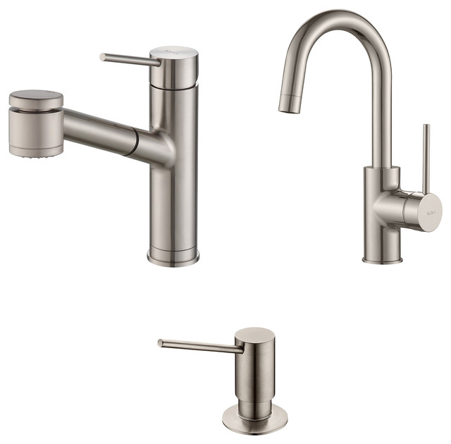 shop houzz kraus usa inc mateo pull out kitchen faucet