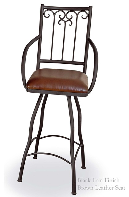 Milan 30 Quot Swivel Bar Stool With Arms Traditional Bar