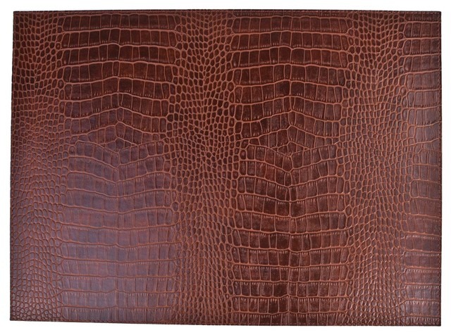 Faux Leather Crocodile Print Placemats Set Of 6