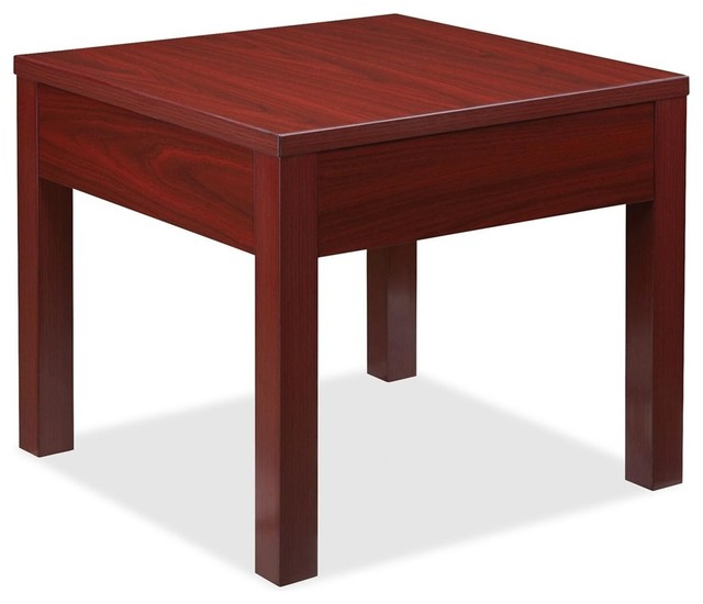 Lorell Occasional Corner Table, Square, 24 X 24 X 20, Particleboard  Contemporary