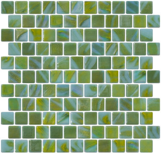 Blue and Lime Green Recycled Glass Tle - Contemporary - Mosaic Tile - by Susan Jablon Mosaics