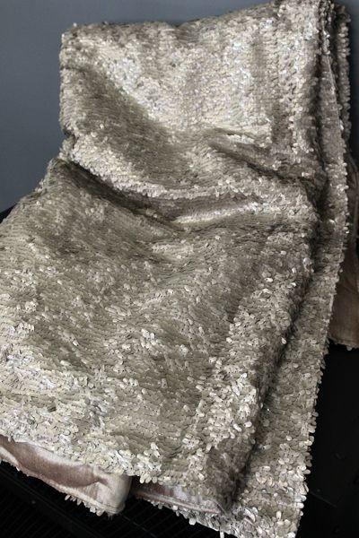 Luxury Sequin and Velvet Bedspread Throw Pale Gold Cool Silver Sequin Throw Blanket