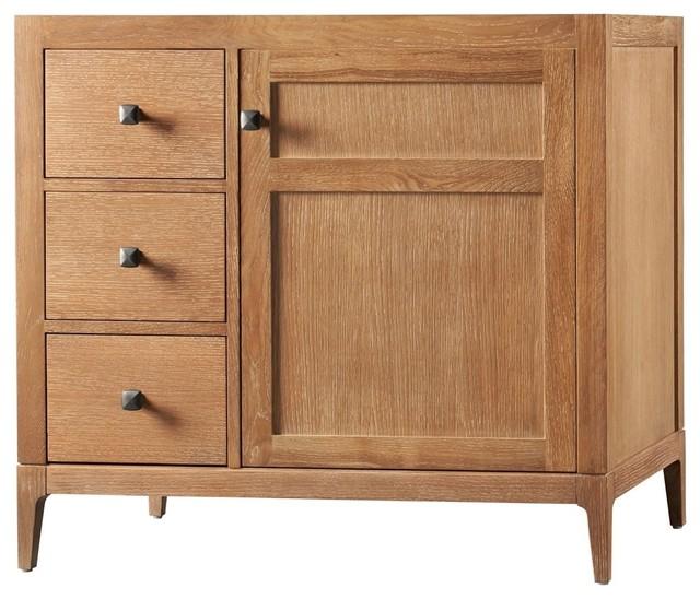 """Briella 36"""" Bathroom Vanity Cabinet Base in Vintage Honey, Door on ..."""