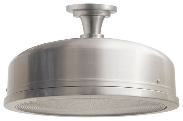 Design House Farmstead Flush-Mount 15, Satin Nickel.