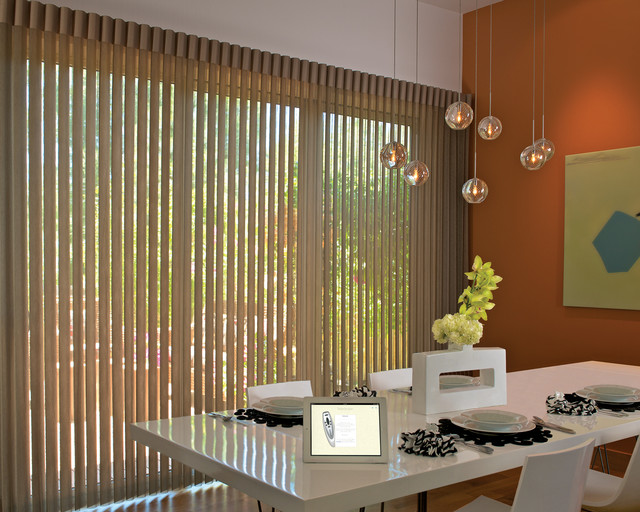 hunter douglas vertical blinds motorized window