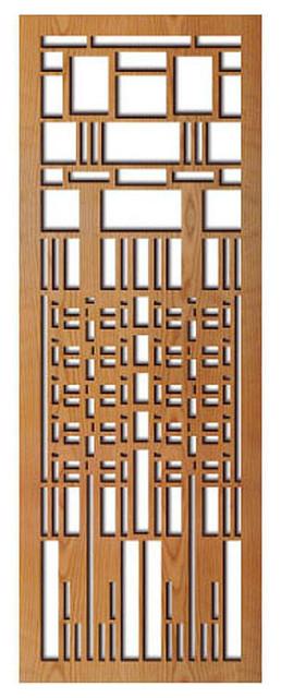 Frank Lloyd Wright Dana Window Wood Art Screen Wall Panel Cherry