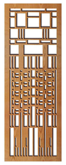 Frank Lloyd Wright Dana Window Wood Art Screen Wall Panel
