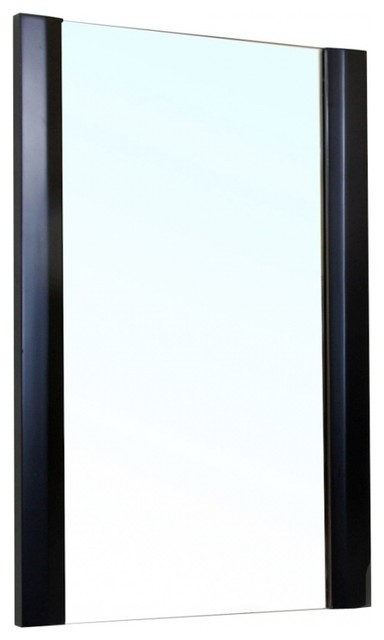 rectangular solid wood black frame mirror contemporary wall mirrors