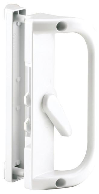 Prime Line C 1221 Sliding Door Handle White Transitional Locks