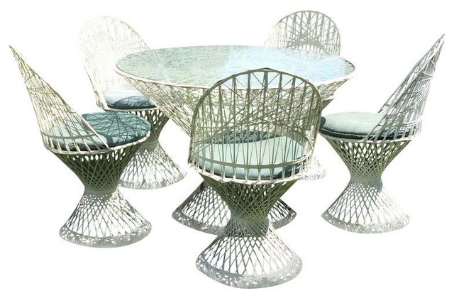 Russell Woodard Spun Fiberglass Patio Set Modern Dining Sets
