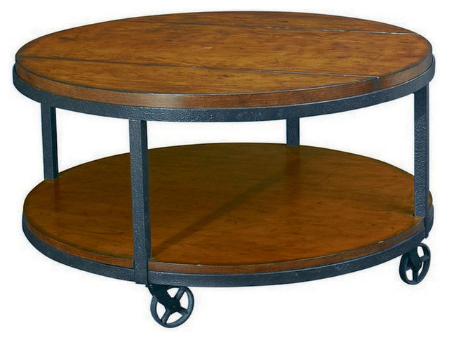 Round Coffee Table With Casters Starrkingschool