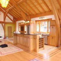 Country Style Open Concept Kitchen