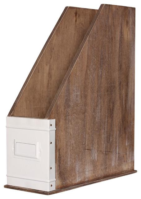 Desktop Organizer Rustic Wood And White Rustic Desk