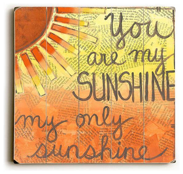 Orange You Are My Sunshine Wood Sign