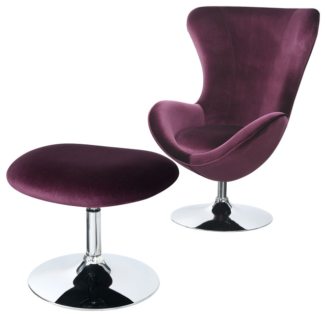 Strange Eloise Chair With Ottoman Purple Gamerscity Chair Design For Home Gamerscityorg