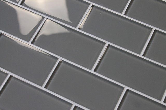 Pebble Gray Gl Subway Tile Sample