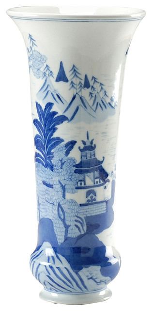 Chelsea House Hand Painted Porcelain Canton Vase 381297