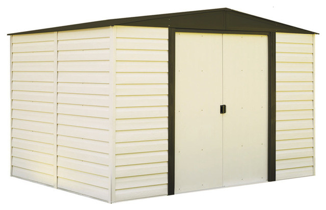 Arrow Storage Products Vinyl Dallas, 10&x27;x8&x27;, Vinyl Coated Steel Storage Shed.