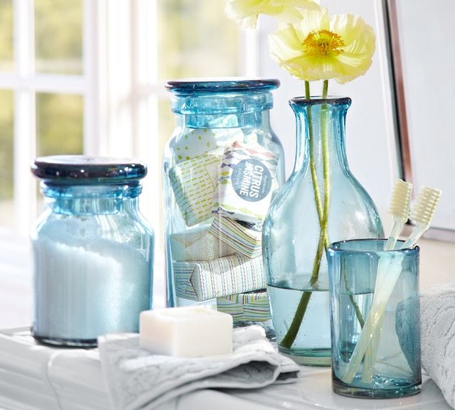 Recycled Glass Bath Accessories
