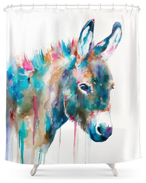 Donkey Shower Curtain