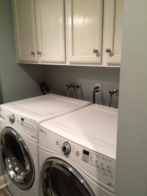 How can I hide my laundry room plumbing??