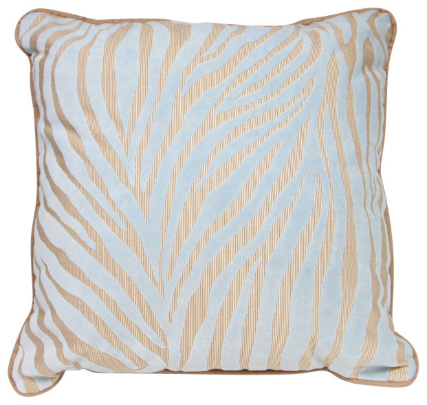 Traditional Accent Pillows : Mozambique Accent Pillow, Blue and Tan - Traditional - Decorative Pillows - by The Well Dressed Bed